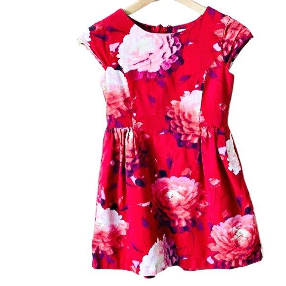 Gap Red Peony Print Dress